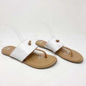 Franco Sarto Thong Sandals White Slip On 9.5